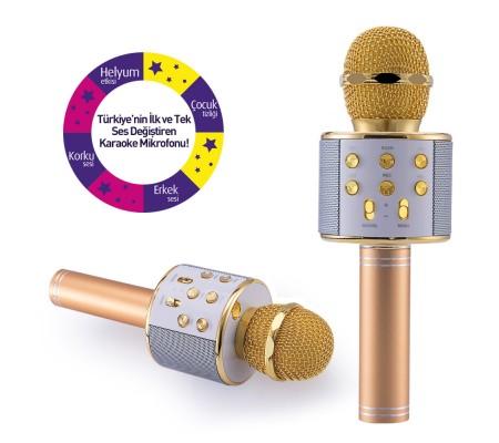 Idance Solist Karaoke Mikrofon ( Yeni Seri - Yeni Teknoloji / Bluetooth / Ses değiştirme fonksiyonu: Helyum etkisi/Çocuk tizliği/Erkek sesi/Ürkütücü ses )