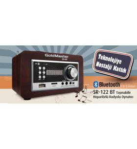 SR-122 Bluetooth Taşınabilir Hoparlörlü Radyolu Oynatıcı