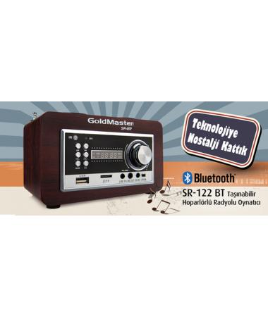 SR-122 Mini Bluetooth + Radyolu Oynatıcı + Uzaktan Kumandalı