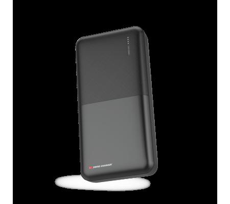 Swiss Charger 20000 Powerbank - EN ÇOK TERCİH EDİLEN - ( Aynı Anda İki Cihaz Şarj Edebilme, İsviçre Swiss Özel Seri - Tüm Tablet Ve Akıllı Telefonlara Uyumlu )