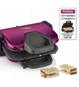 ( TÜKENDİ! ) PT-3207 ProTasty Tost Makinesi ( ProTasty İle En Lezzetli Tostlar Sofralarda! 6 Adet Tost Ekmeği Kapasitesi ve Izgara Özelliği! )