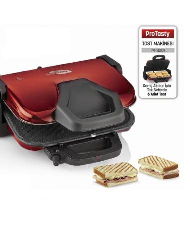 PT-3207 ProTasty Tost Makinesi ( ProTasty İle En Lezzetli Tostlar Sofralarda! 6 Adet Tost Ekmeği Kapasitesi ve Izgara Özelliği! )