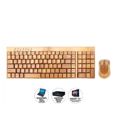 Bkm-975 Bamboo Kablosuz Klavye Mouse Set