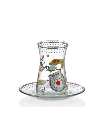 Bs-656 6'Lı Heybeli Çay Bardağı