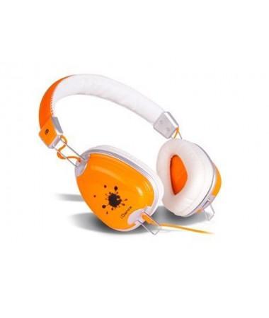 İdance Funky-300 Kulaklık-Turuncu-Beyaz (108dB Ses Hassiyeti +Mikrofon birarada !)