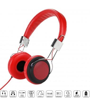Vivanco 34880-Street Style X-Bass Kulaklık-Kırmızı ( Özel Tasarım & Üstün Ses Kalitesi! )