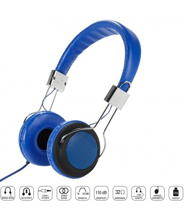 Vivanco 34881-Street Style X-Bass Kulaklık-Mavi ( Özel Tasarım & Üstün Ses Kalitesi! )