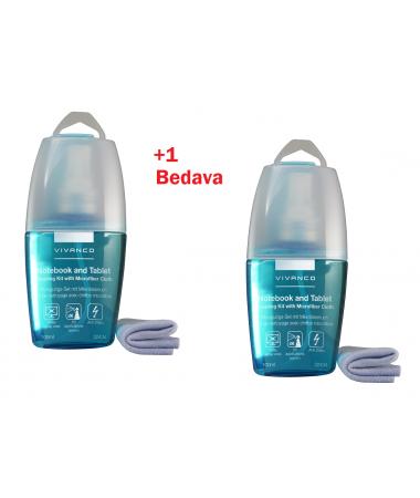 Vivanco Anti Statik Ekran Temizleme Solüsyonu 1 Alana 1 Bedava! ( Mikrofiber Temizleme Bezi Hediyeli! - Toz, Kir Ve Ekranda Ki Parmak İzlerini Leke Bırakmadan Temizler! )