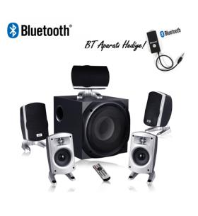 XFORCE-1H Ev Sinema Ses Sistemi ( Bluetooth Dönüştürücü Hediyeli & Kumandalı )
