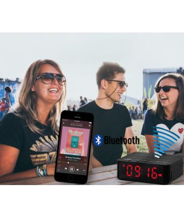 SON 100 Adet -  Home Time Mini Bluetooth Hoparlör ve Dijital Saat - Yeni Seri / Yeni Teknoloji! Müzik Dinleyebilme, Telefon ile Konuşabilme - 6 Fonksiyon Bir Arada! ( Pembe )